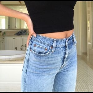 LEVIS WEDGIE FIT HIGH WAISTED LIGHT WASH JEANS
